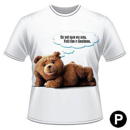 Camiseta criativa - urso Ted fofinho - P