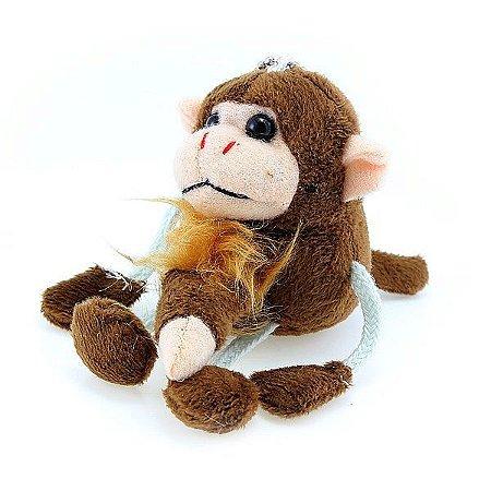 Chaveiro em formato de macaco com pênis a corda