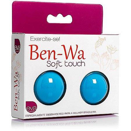 Ben-Wa, para exercícios vaginais - em Soft Touch - Azul
