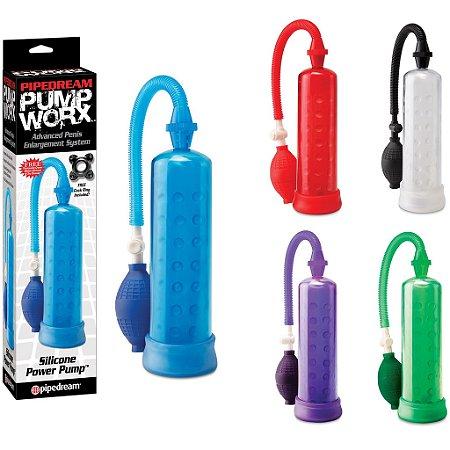 Bomba peniana silicone Power Pump coleção Pump Worx