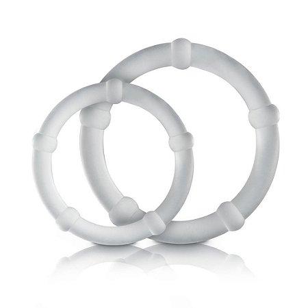 Kit 02 anéis p/m prolongador de ereção em silicone sexy fantasy