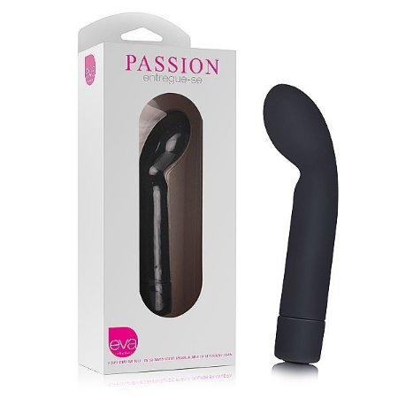 Vibrador PASSION - Silicone - Preto - Eva Collection