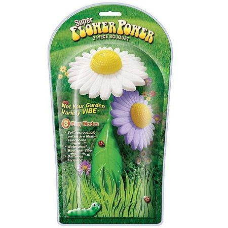 FLOWER POWER SUPER - 2 Vibradores em formato de Flores ( 1 é chaveiro)