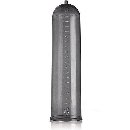 Cilindro para bomba em acrílico Fumê