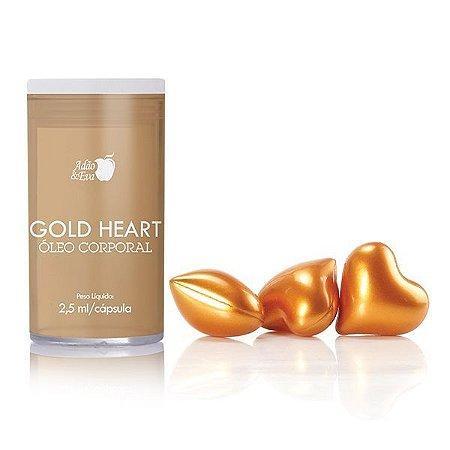 Cápsulas de Coração Dourado com 3 Unidades