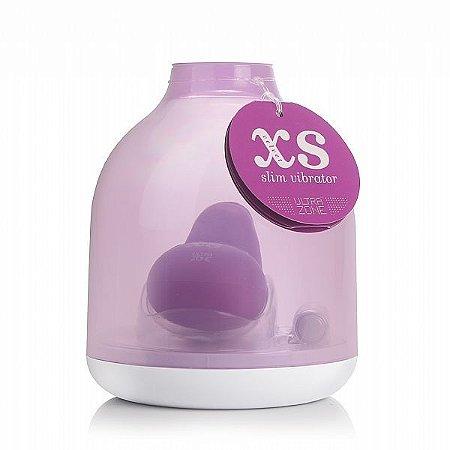 Vibrador XS Velvet Slim 8 cm - LILÁS - Silicone - 3 Velocidades