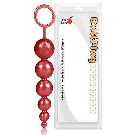 Plug boll sitck 15cm com haste na cor vermelho