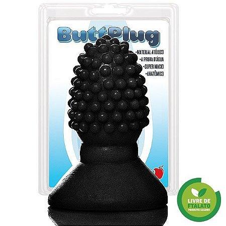 Mini Plug Framboesa com cravinhos, 7,5 x 3,5 cm na cor preto