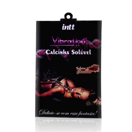 CALCINHA COMESTIVEL VIBRATORIA INTT CHOCOLATE