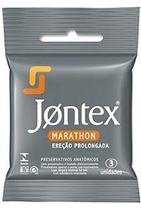 Preservativo Jontex Marathon - Ereção Prolongada - 3 Unidades