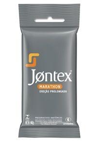 Preservativo Jontex Marathon - Ereção Prolongada - 6 Unidades