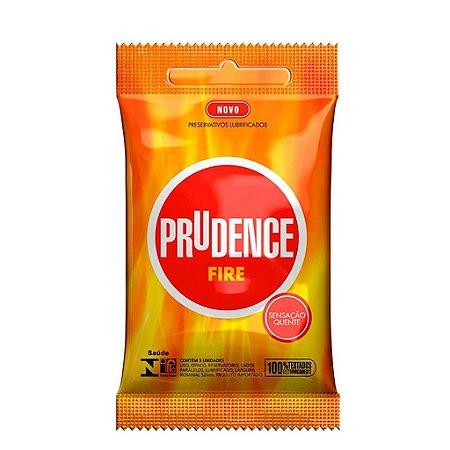 PRESERVATIVO FIRE COM 3 UNIDADES PRUDENCE