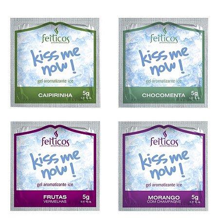 Sachê gel comestível ice kiss me now 5g Feitiços