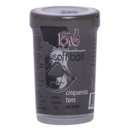 Soft ball bolinha 50 tons mais escuros 8g 02 unidades Soft Love