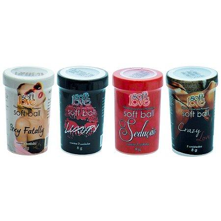 Soft ball bolinha perfume 8g 02 unidades Soft Love