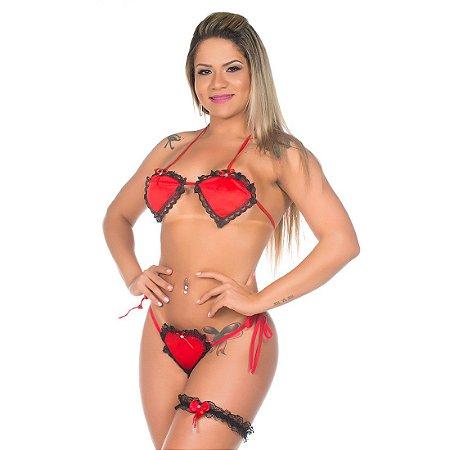 Kit mini fantasia apaixonada Pimenta Sexy