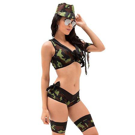 Kit fantasia militar Mayara Sapeka