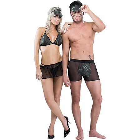 Fantasia temática casal militar Sexy Fantasy