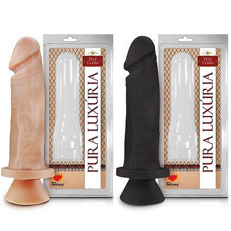 Prótese maciça com ventosa 18 x 4,5cm Sexy Fantasy
