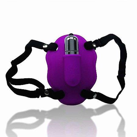 Estimulador Clitoriano Love Rider com Capsula 10 Vibraçoes Roxo