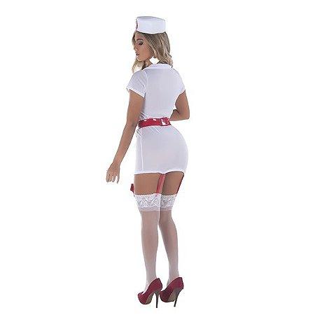 Profissional Da Saúde - Conjunto De Vestido Curto, Tanga e Chapéu