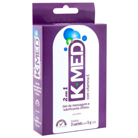 K-Med 2 Em 1 Lubrificante Íntimo 03 Sachês Cimed