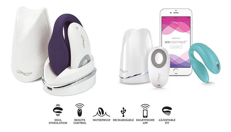 Vibrador para Casal We-Vibe® Sync™ com Controle Remoto sem Fio
