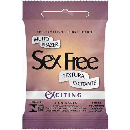 Preservativo Exciting Com 3 Unidades SEX FREE