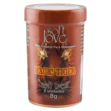 Soft Ball Bolinha Magic Tiger 8G 02 Unidades SOFT LOVE