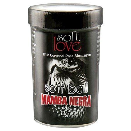 Soft Ball Bolinha Mamba Negra 8G 02 Unidades SOFT LOVE