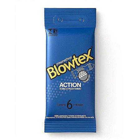 PRESERVATIVO BLOWTEX ACTION COM 06 UNIDADES