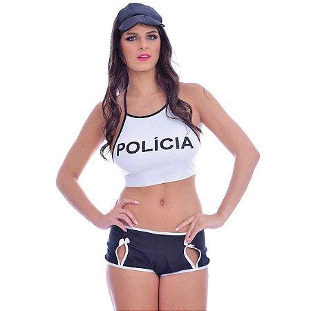 KIT FANTASIA POLICIAL TOP DE ELITE SOFT LOVE