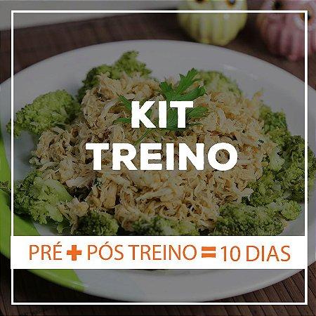 KIT TREINO 10 dias - 10 Marmitas Pré Treino e 10 Marmitas Pós Treino