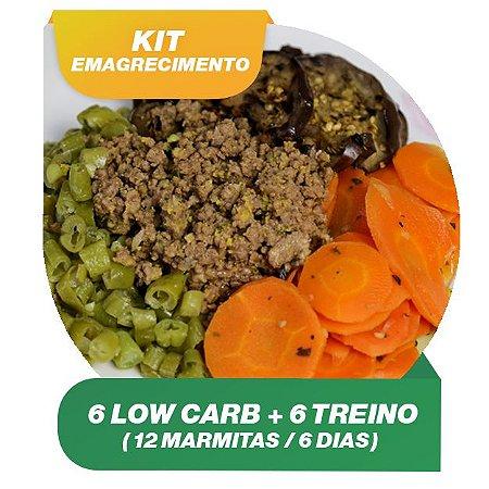 KIT EMAGRECIMENTO 6 dias - 6 Marmitas Low Carb e 6 Pratos da Linha treino