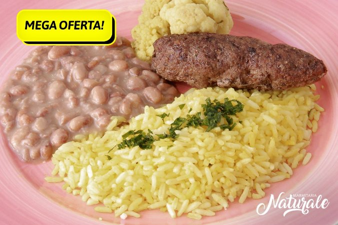 AC99 - Kafta, arroz com açafrão, feijão refogado e couve-flo