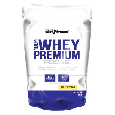 Whey Concentrado 100% Whey Premium Foods Refil (2kg) - BRN Foods