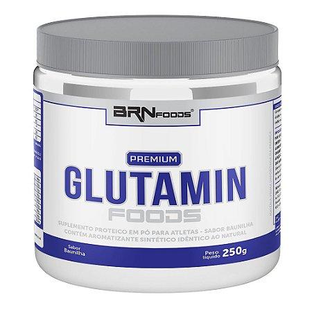 Glutamina Premium Foods (250g) Baunilha - BRN Foods