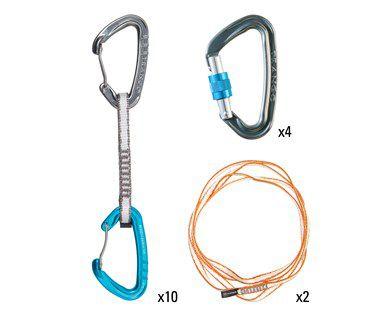 Sport Climbing Package - Conjunto Esportivo - (10 Mosquetões Phase, 4 Mosquetoes ReactScrewlock, 2 Fitas Low Bulck)
