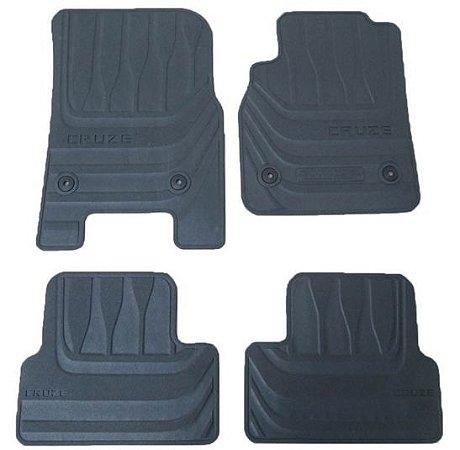 Jogo de Tapetes em PVC Cruze Sedan Hatch - Tapete Borracha Peças GM Antiderrapante Chevrolet 2012 diante 52042046
