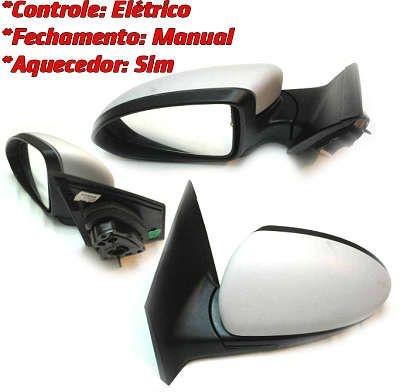 Espelho Retrovisor Externo Lado Direito Com Controle Elétrico Peças Genuínas GM Chevrolet Cruze de 2012 em diante 95063313