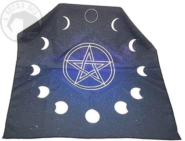 Toalha Fases da Lua (Altar/ Tarot/ Leitura de Oráculos)