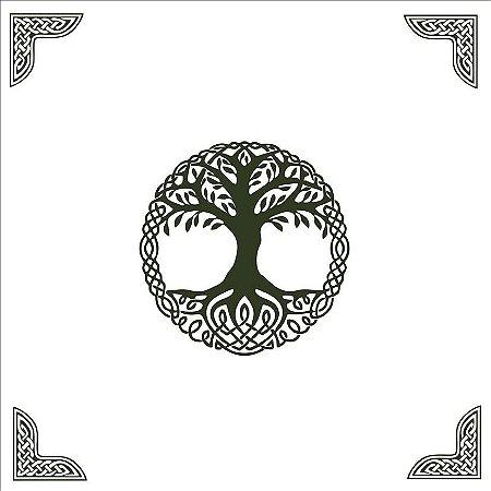 Toalha Branca Árvore da Vida (Altar/ Tarot/ Leitura de Oráculos)