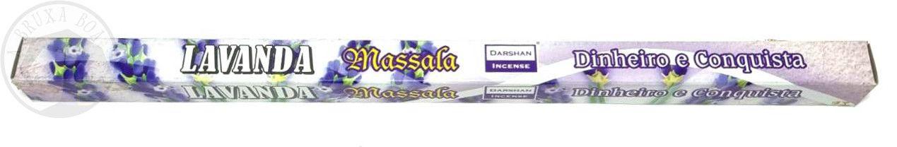 Incenso Massala - Lavanda - Dinheiro e Conquista(Darshan)