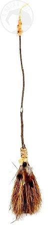 Vassoura de Bruxa com Pedra Natural- Citrino