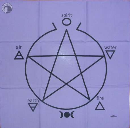 Toalha Pentagrama - Altar e leitura de oráculos