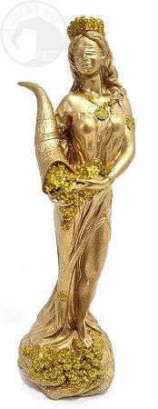 Tiché - Deusa da Fortuna (Dourada)