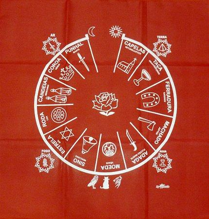 Toalha Cigana - para altar e baralho cigano - Vermelha