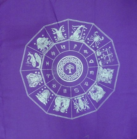 Toalha do Zodíaco - roxa