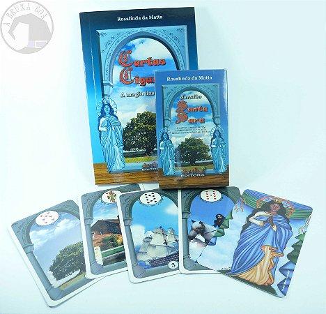 Livro Cartas Ciganas + Baralho Santa Sara