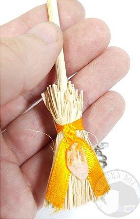 Mini Vassoura - Amuleto Citrino